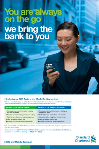 You are always on the go, we bring the bank to you