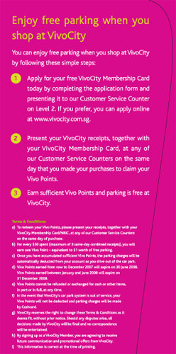 How to enjoy free parking at Vivo City